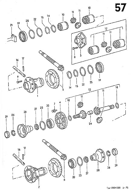 vw irs transaxle diagram